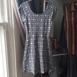 Black & White Criss Cross Back Dress